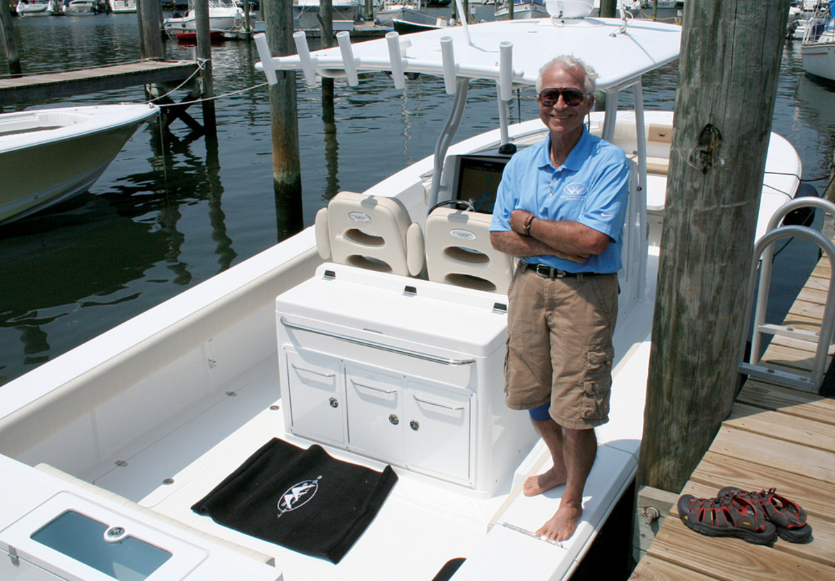 Industry veteran Skip Robinson says he's having fun at the helm of the reborn Southport Boats.