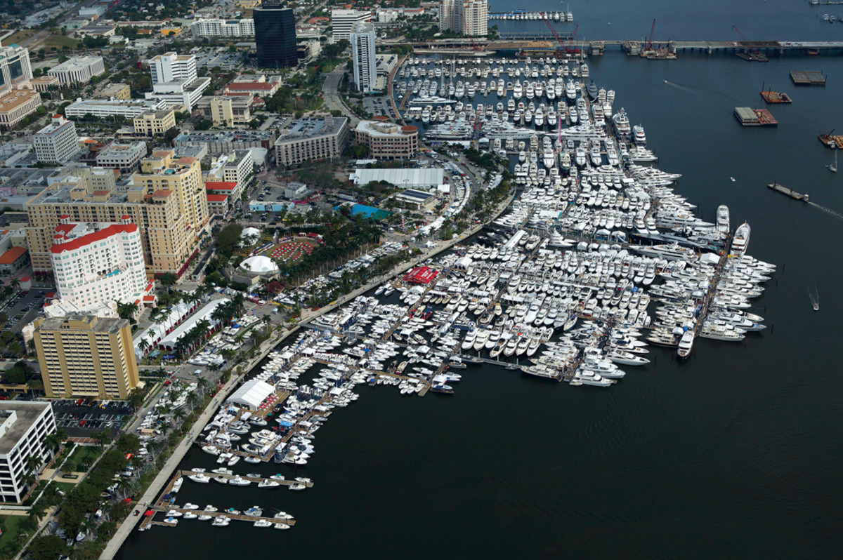 The footprint of the Palm Beach International Boat Show continues to grow. Thirty slips were added this year at the show's northern end, housing some of the largest yachts.