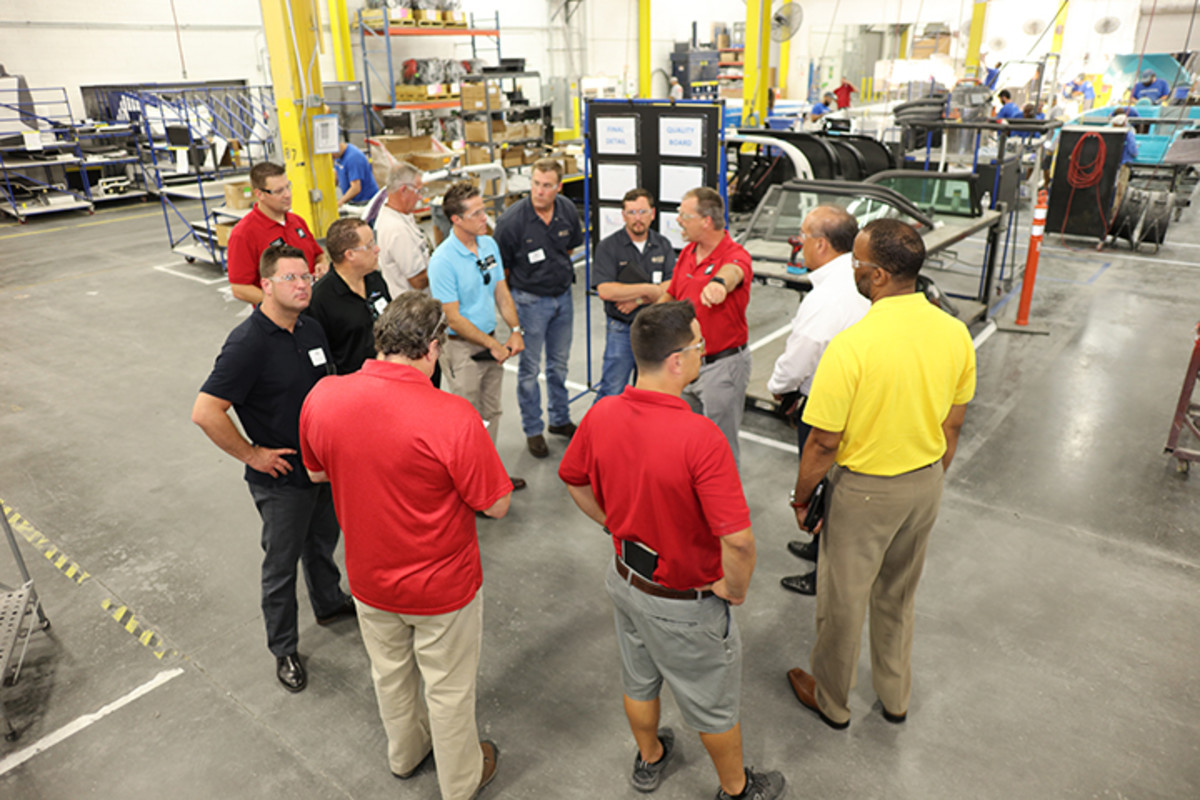 Members of the Manufacturers Association of Central Florida were given a tour of Nautique's manufacturing facility and its operations.