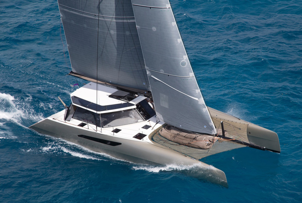 The Gunboat 55, shown here, will be produced by Grand Large Yachts after the sale is finalized.
