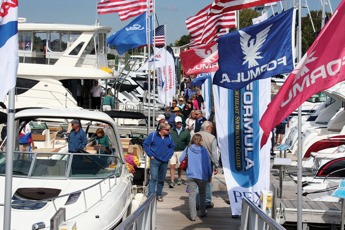 Attendance was down, but exhibitors say the quality of buyers was up at the Norwalk Boat Show in Connecticut.