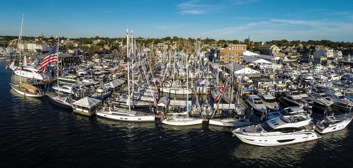 Organizers of the Newport International Boat Show say attendance was up 5 percent from last year and exhibitor space was up 11 percent.
