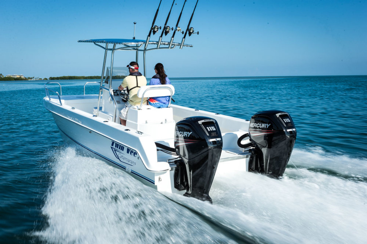 The Mercury 115 FourStroke makes a good fit for twin-outboard applications.
