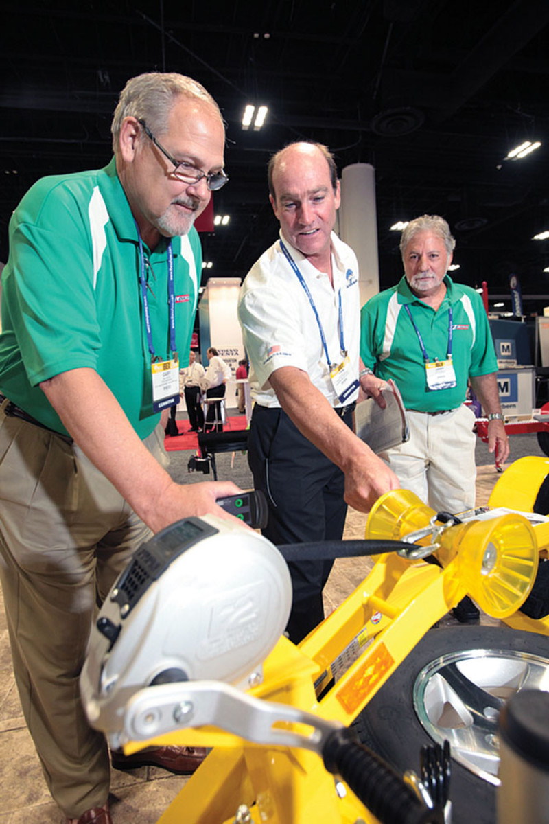 There were plenty of new products for visitors to inspect on the show floor.