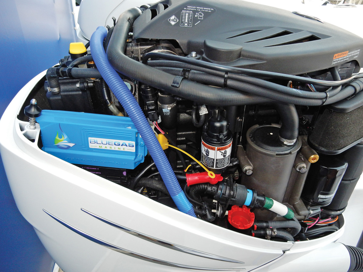 Its system involves an electronic fuel-injection unit that is added to the existing engine, high-pressure lines to carry the gas and gauges that monitor pressure. The system can also use propane and hydrogen.