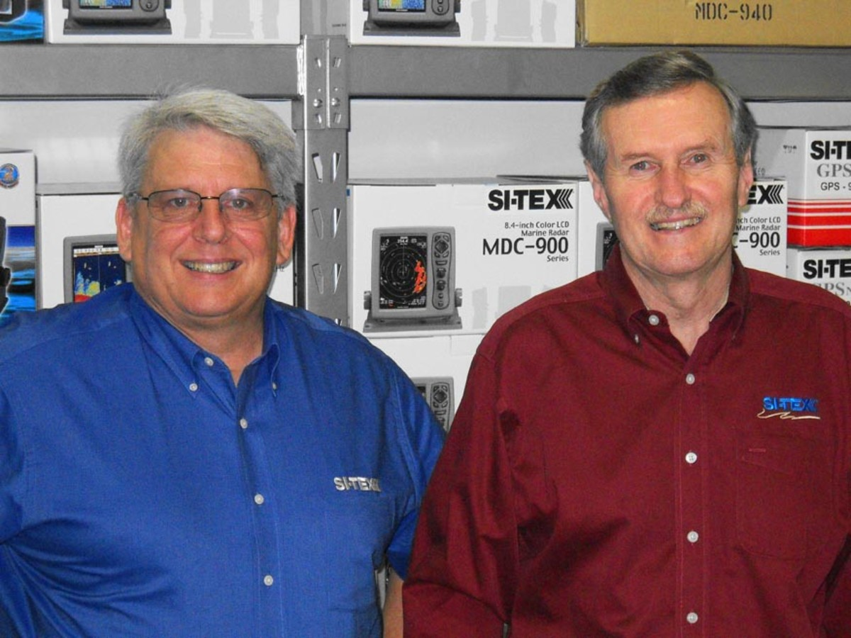 Ted Bodtmann (right) is president and Allen Schneider is vice president of sales at Si-Tex Marine Electronics.