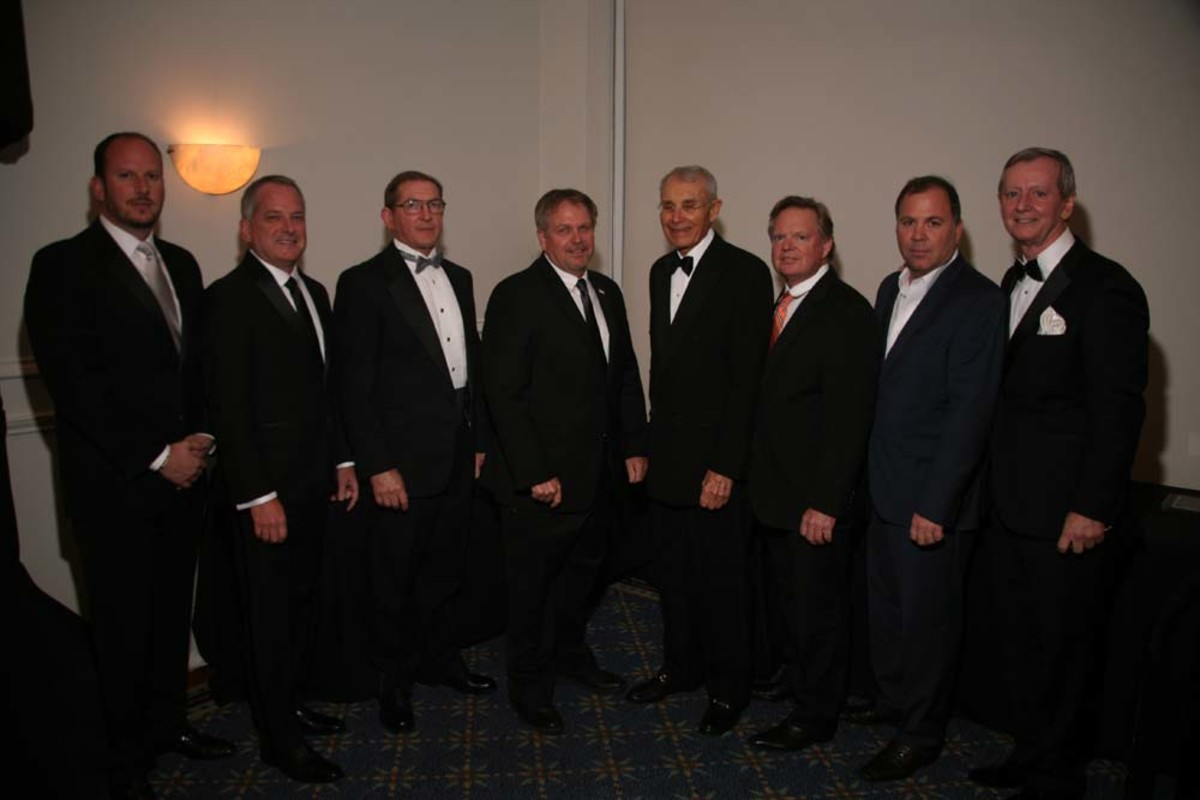 The FYBA's 2015-16 board members are: Paul Burgess (left); Gary Smith; Paul Flannery; Jeff Erdmann; Bob Zarchen; Bruce Schattenburg; Jeff Partin; and Bob Saxon.