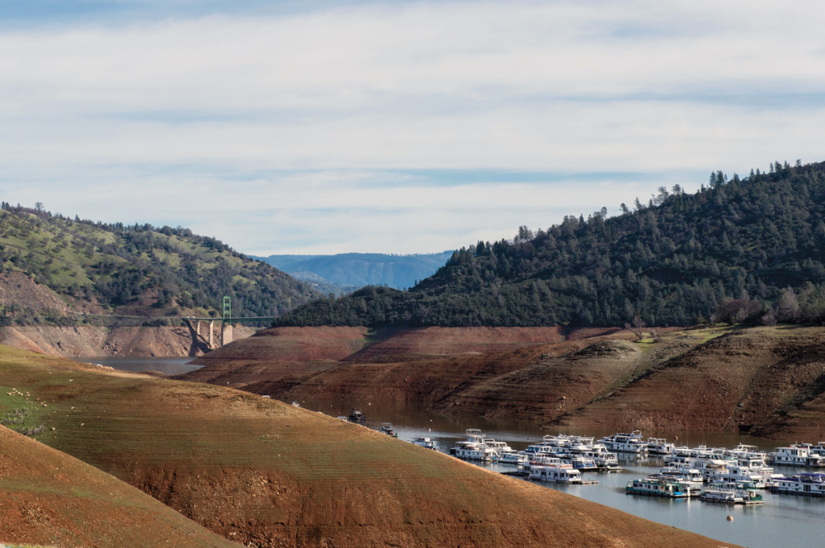 Bidwell Canyon Marina on Lake Oroville in northern California in a photo taken in February.