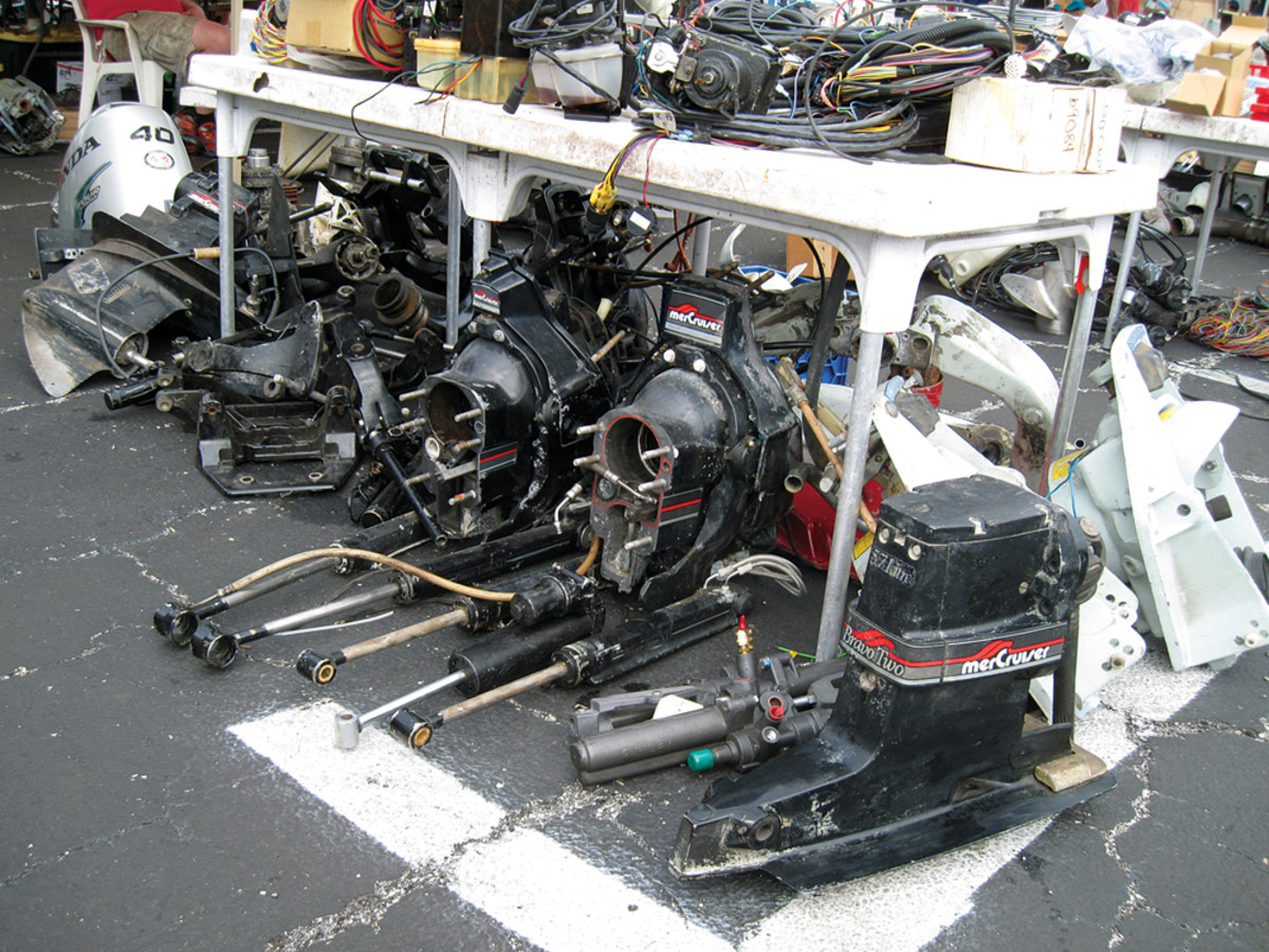 Used and vintage engines are a mainstay among vendors.