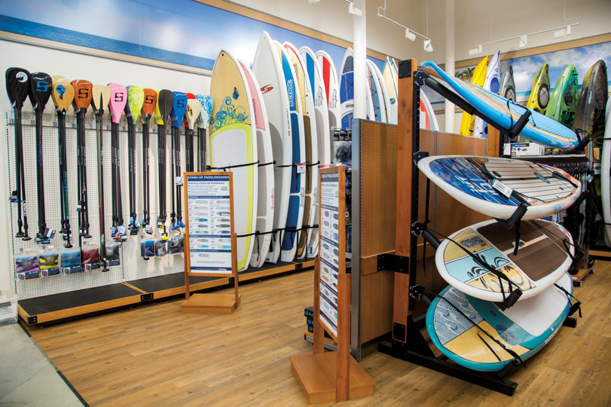 The retailer's traditional reliance on sales of boating parts and accessories is being supplemented by alternative water-sports options as part of its new strategy.