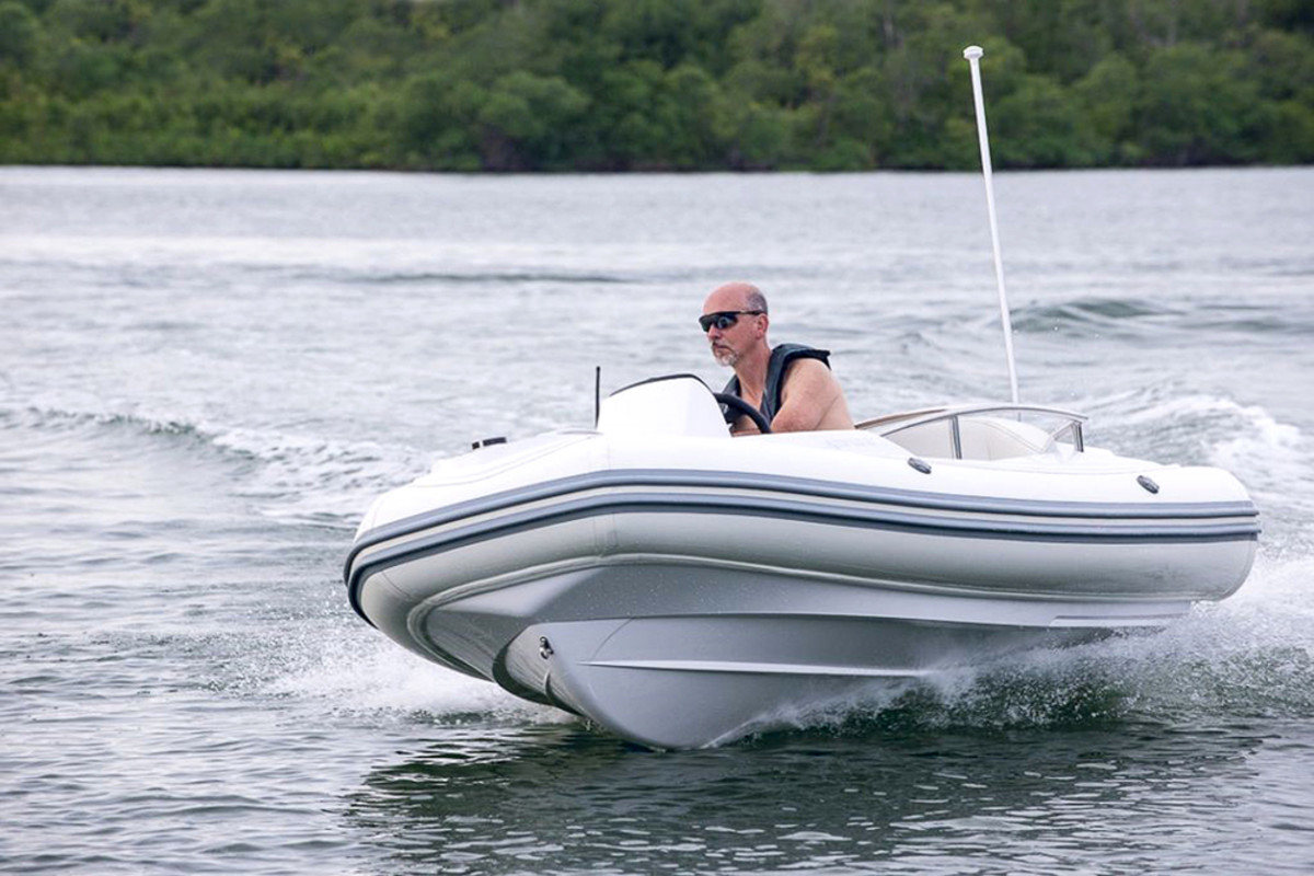Argos Nautic is offering its 305 RIB tender with Torqeedo electric power.