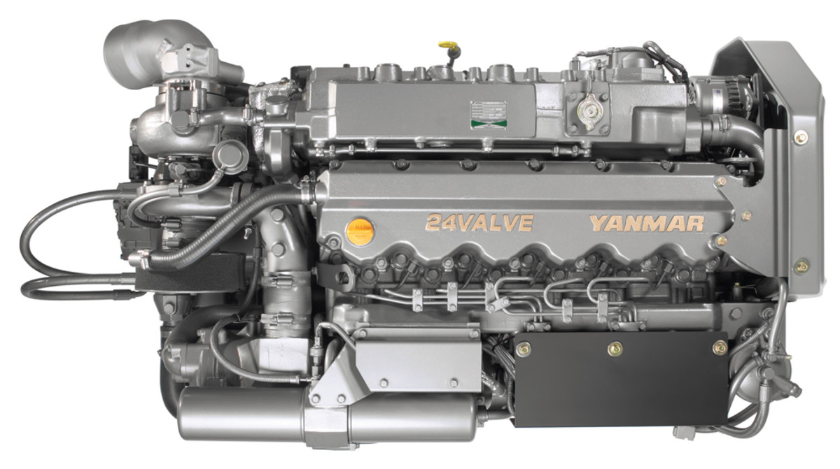 Silver Arrows Marine chose two 5.8-liter, six-cylinder Yanmar diesel engines — each delivering 480 hp — for the yacht.