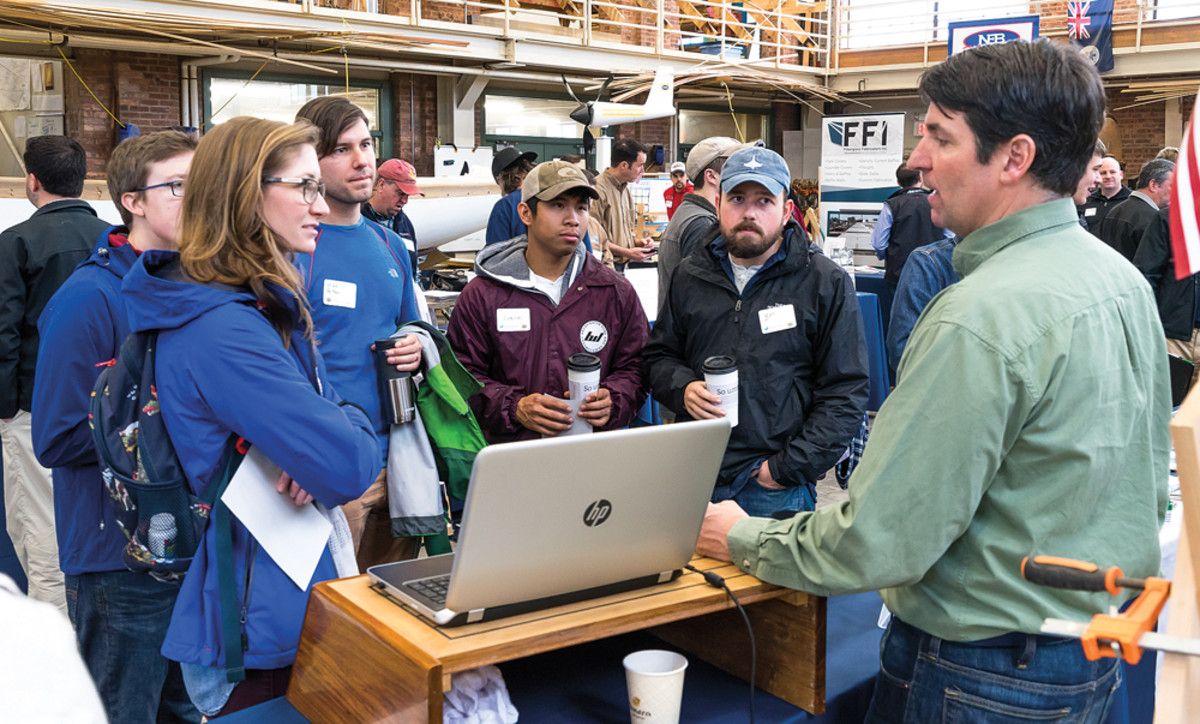 Prospective employees attend the Rhode Island Marine Trades Association's annual Career Day.