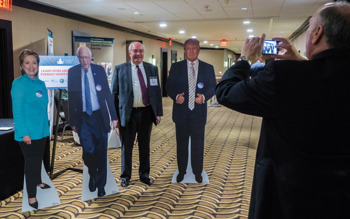 Our vote goes to ABC attendee Donald Parkhurst of SunTrust Bank. There was plenty of presidential election paraphernalia, such as these cardboard cutouts, at this year's conference.