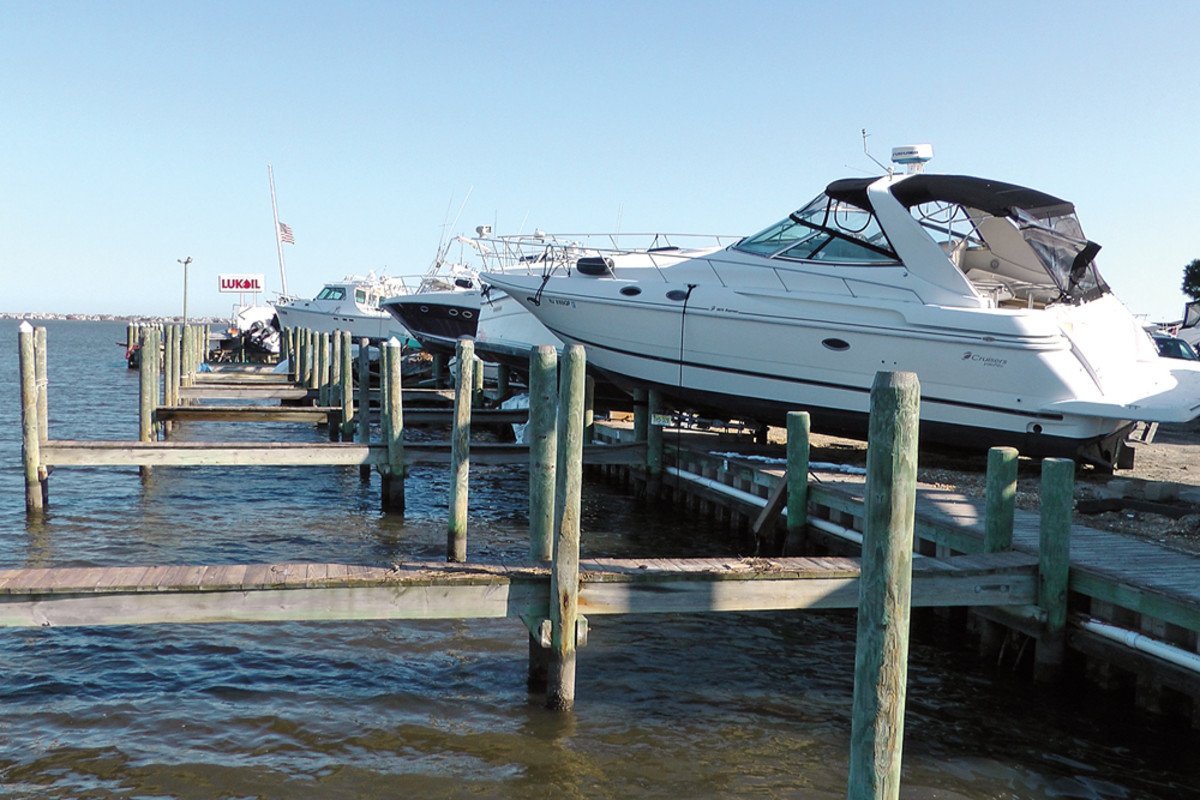 In 2012, Hurricane Sandy altered the nature of Danko's job. This photo was taken at Good Luck Point Marina in Bayville.