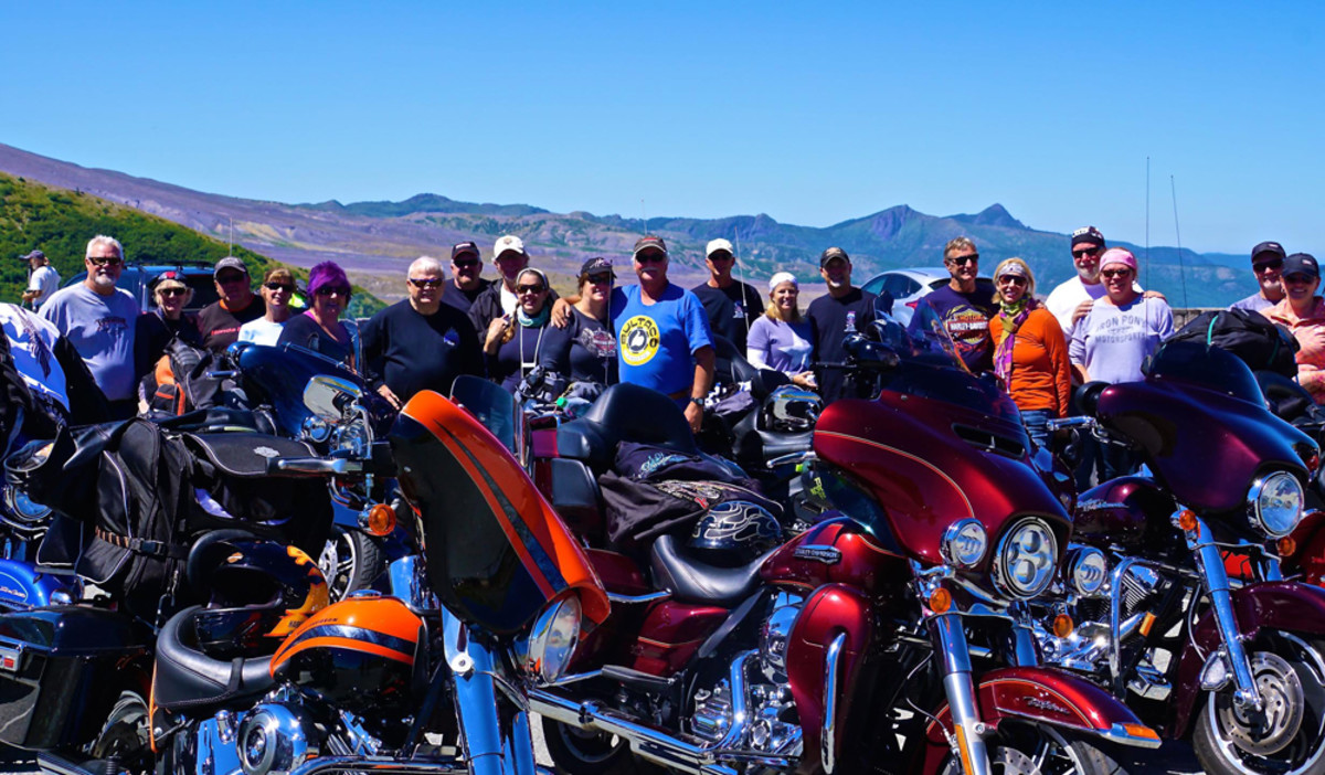The tour group experienced a challenging ride to Mount St. Helens.