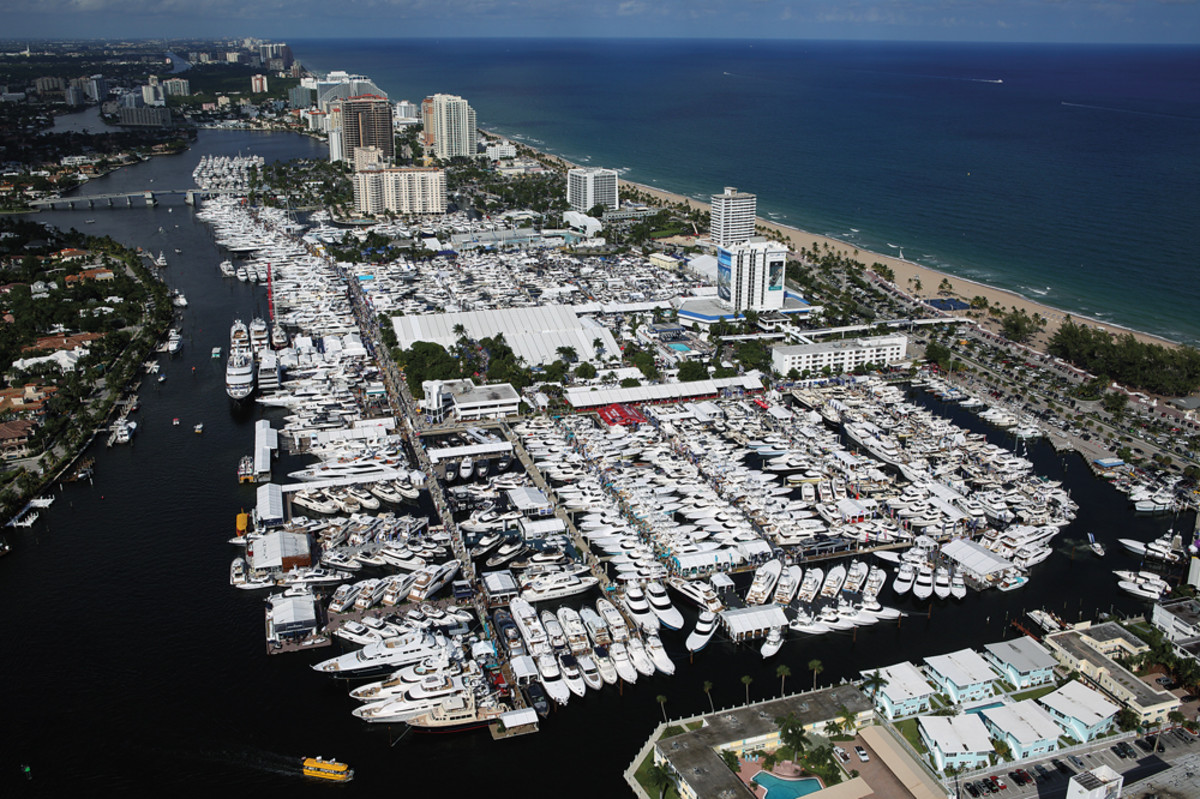 The Fort Lauderdale International Boat Show spreads across six locations, but the Bahia Mar is the main venue.