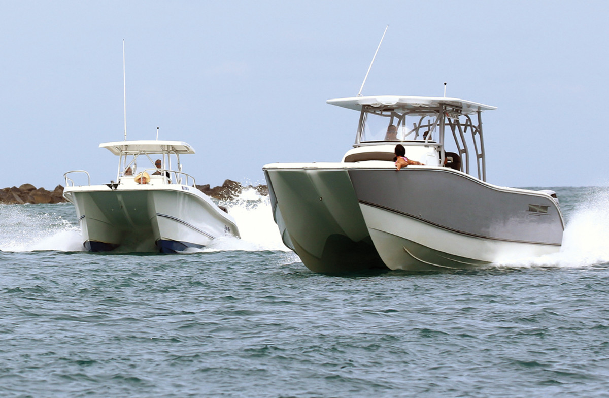 Twin Vee power catamarans are known for their smooth ride in rough water.