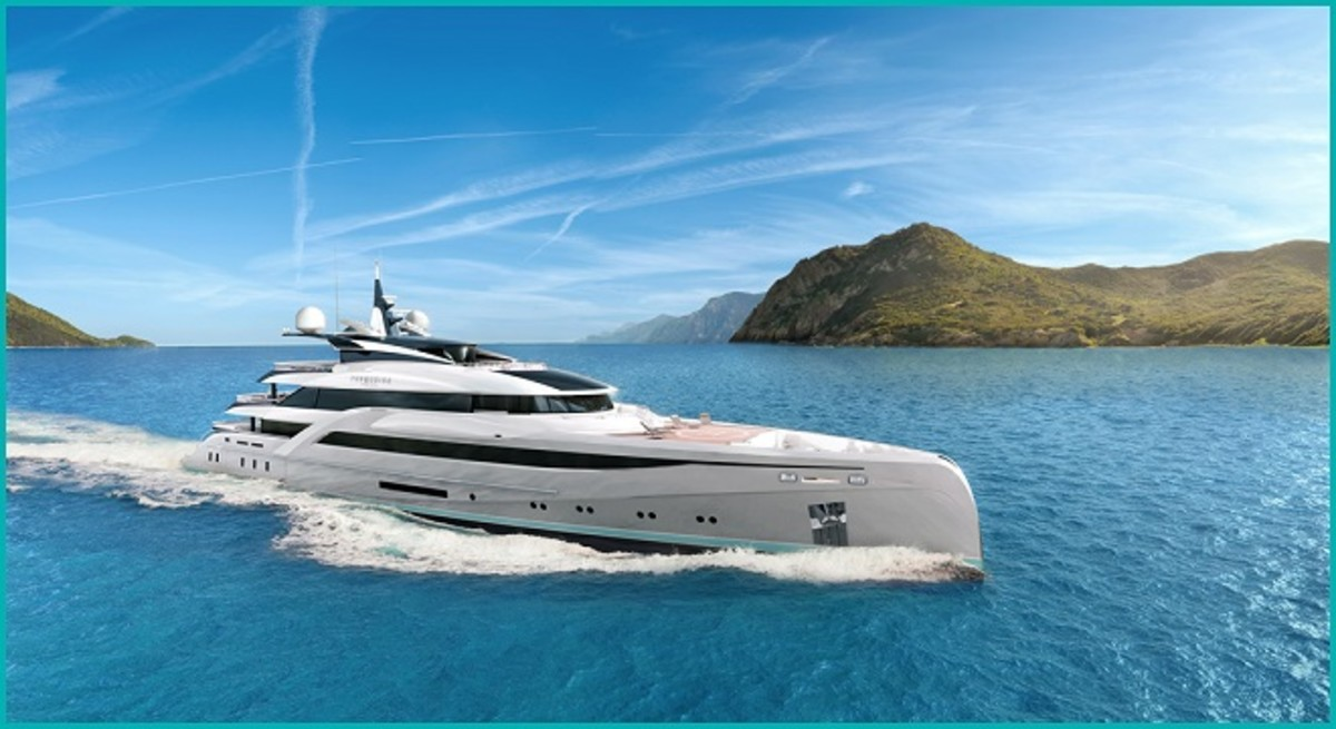 UCINA honored Nuvolari Lenard for the firm's designs, which include this 216-foot Turquoise yacht.