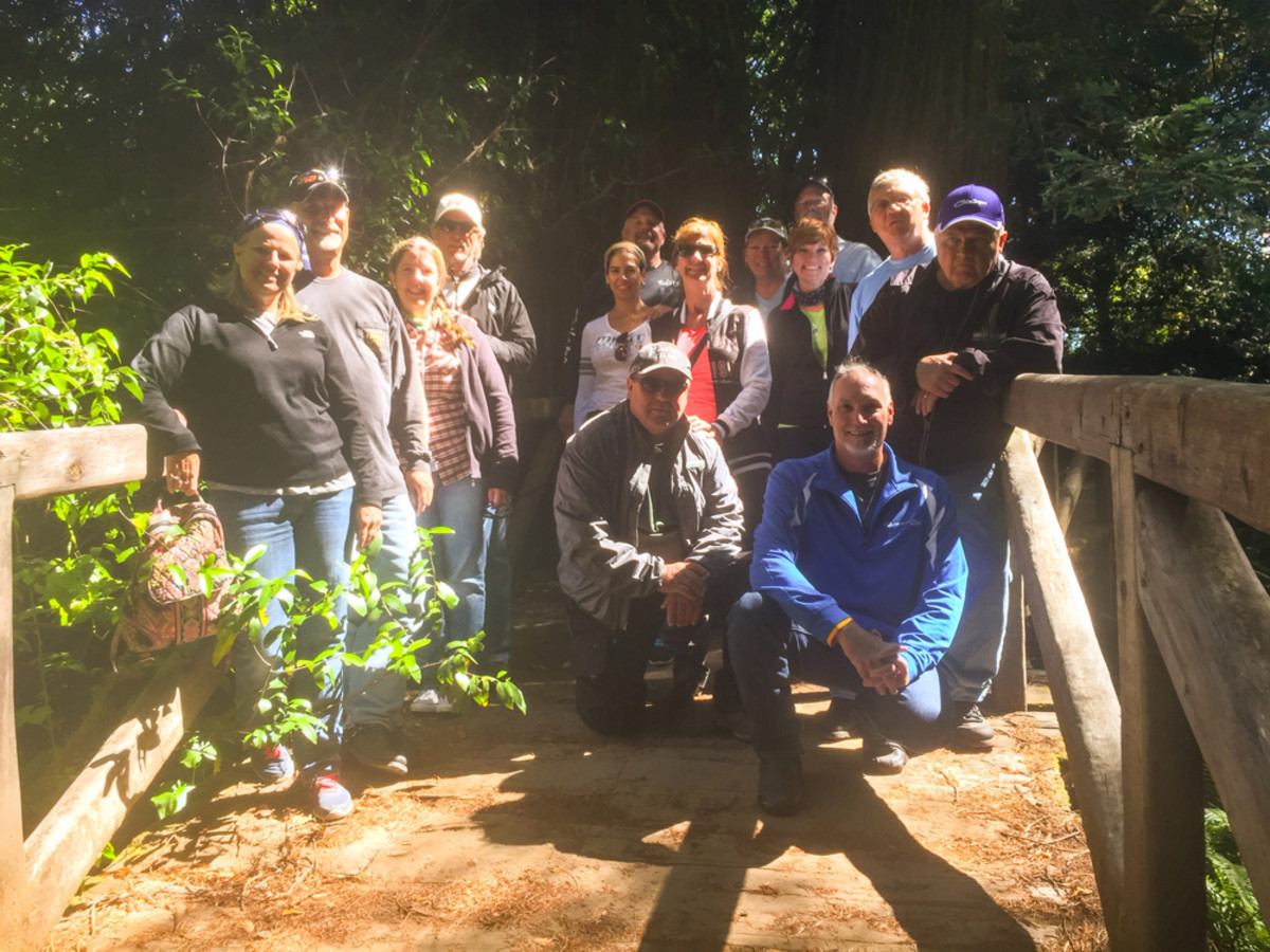 "The riders stopped at Prairie Creek Redwoods State Park, where the movie ""Jurassic Park"" was shot."