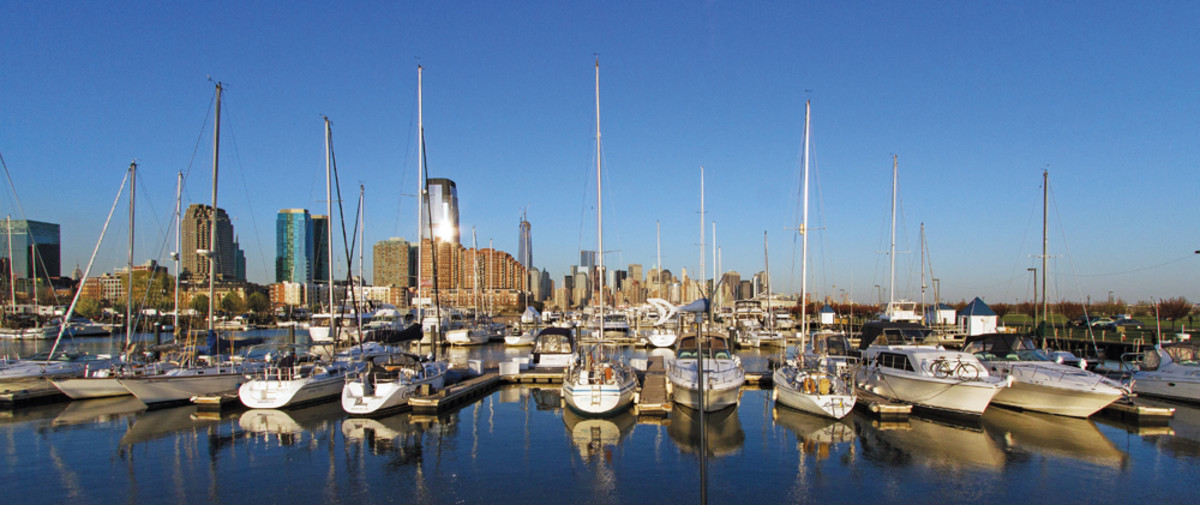 Suntex Investors Group is one of the management companies that has been buying up and improving marinas. This is Liberty Landing in Jersey City, N.J., facing the Manhattan skyline.