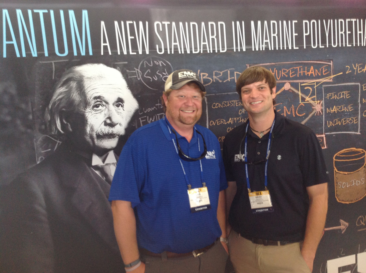 Jonathan Boswell, left, is the CEO and co-founder of Engineered Marine Coatings. Brad Martin is co-founder and chief operating officer.
