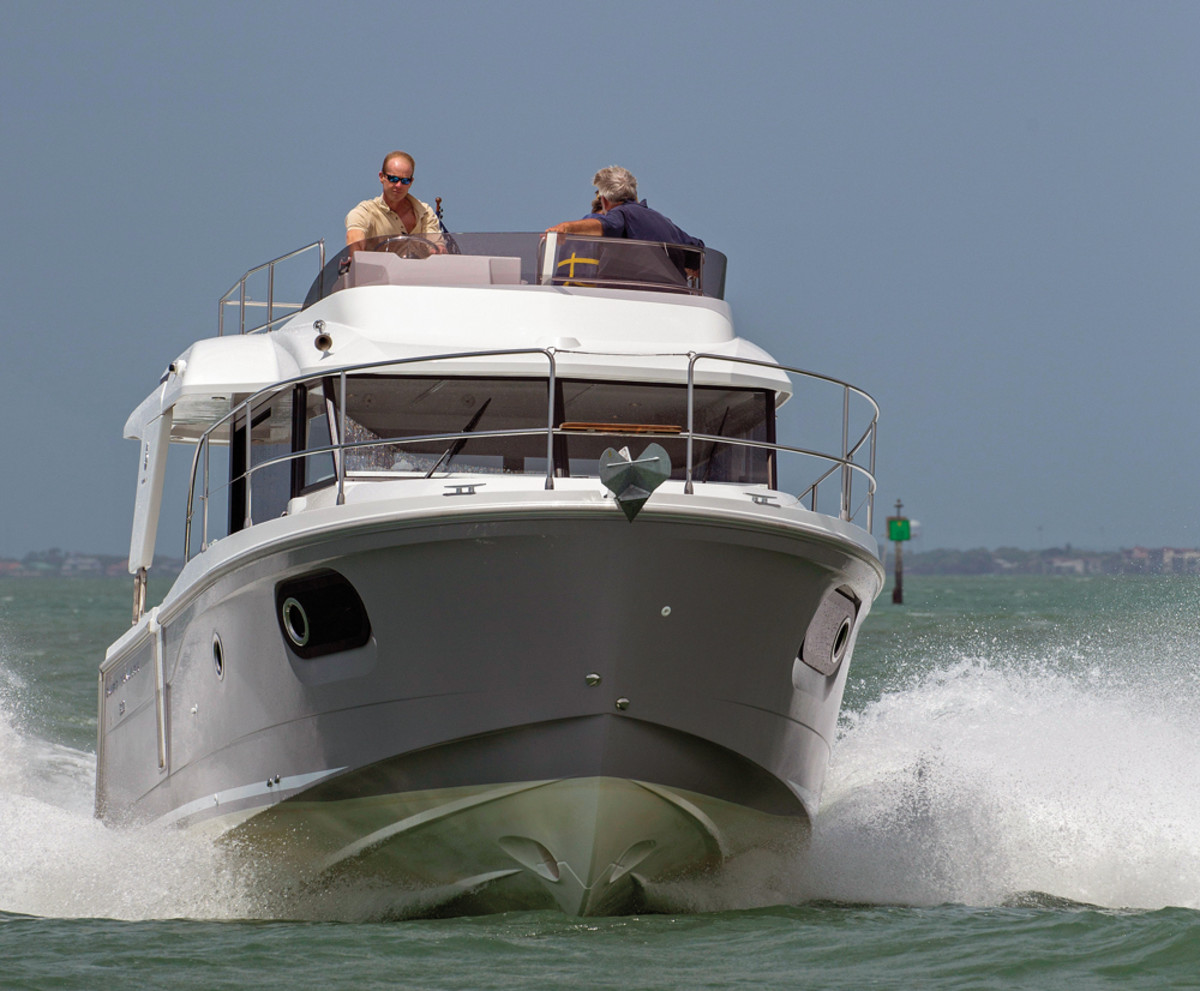 Beneteau Powerboats is another brand Denison has done well with. The Swift Trawler 30 is shown above.