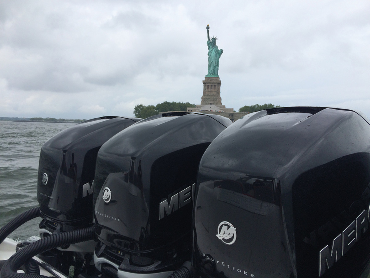"The Mercury event was held at lower Manhattan's Chelsea Piers on the Hudson River.  ""I'm so excited! I've never been this close to Lady Liberty before,"" said media rep Sally Turner."