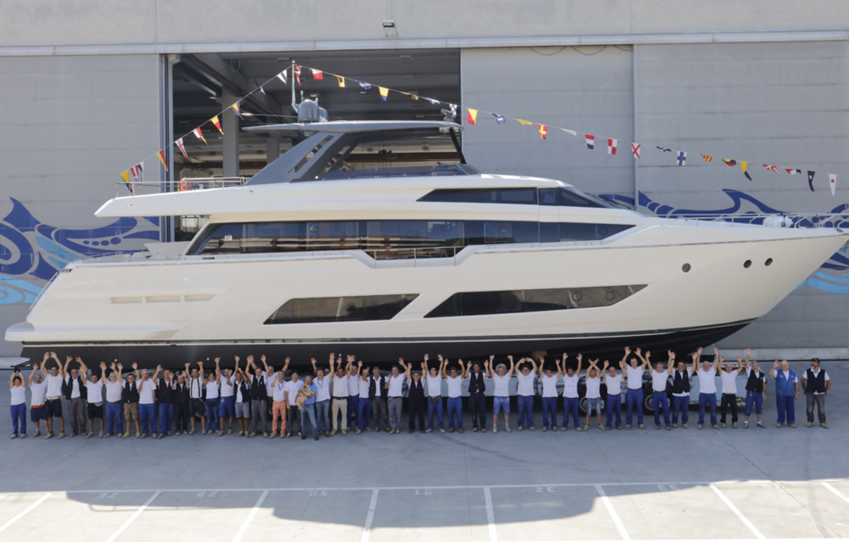 The Ferretti Yachts 850 will make its world debut in September at the Cannes show.