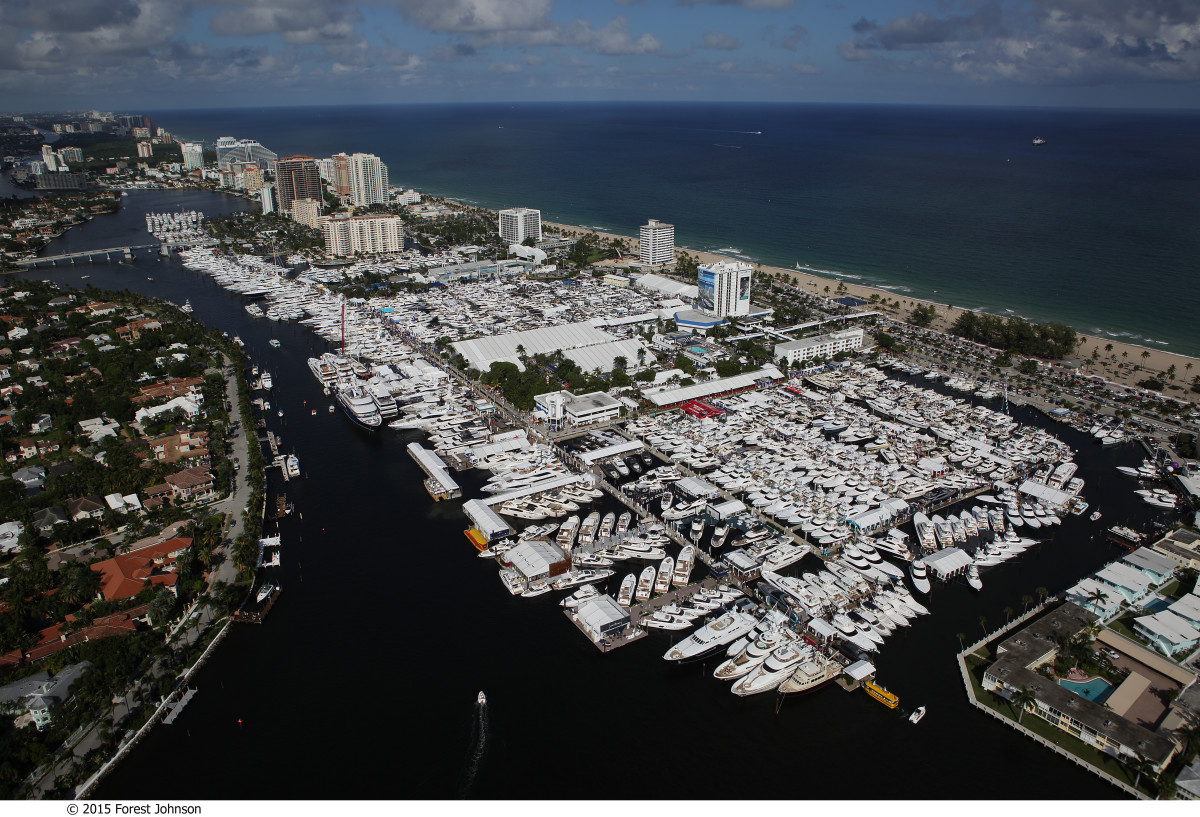"The economic impact of the Fort Lauderdale International Boat Show ""dwarfs the Super Bowl, and it happens year after year,"" says Phil Purcell, executive director of the Marine Industries Association of South Florida."