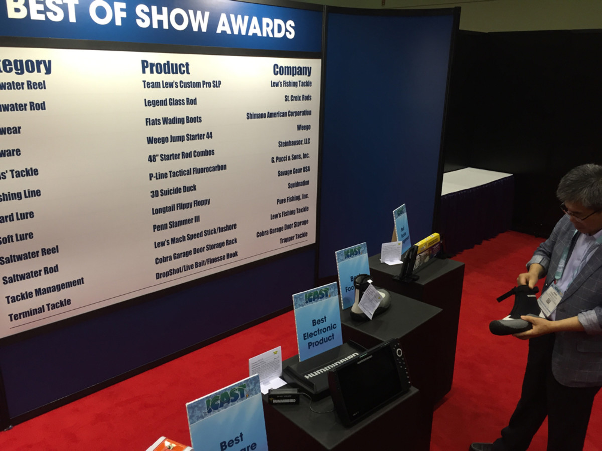The Best of Show winners were displayed in the New Product Showcase. The winners were announced Wednesday night.