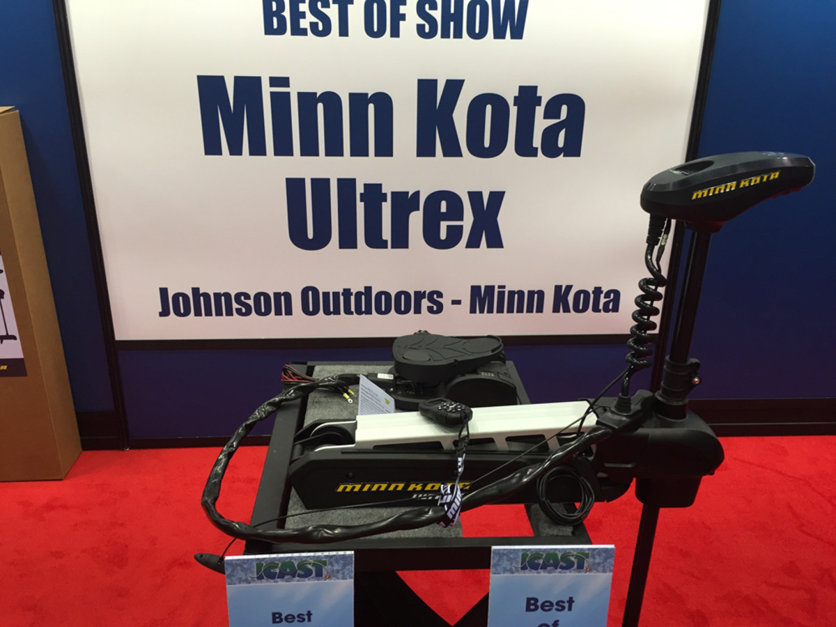 Johnson outdoors captured the overall best of show with its Minn Kota Ultrex trolling motor.