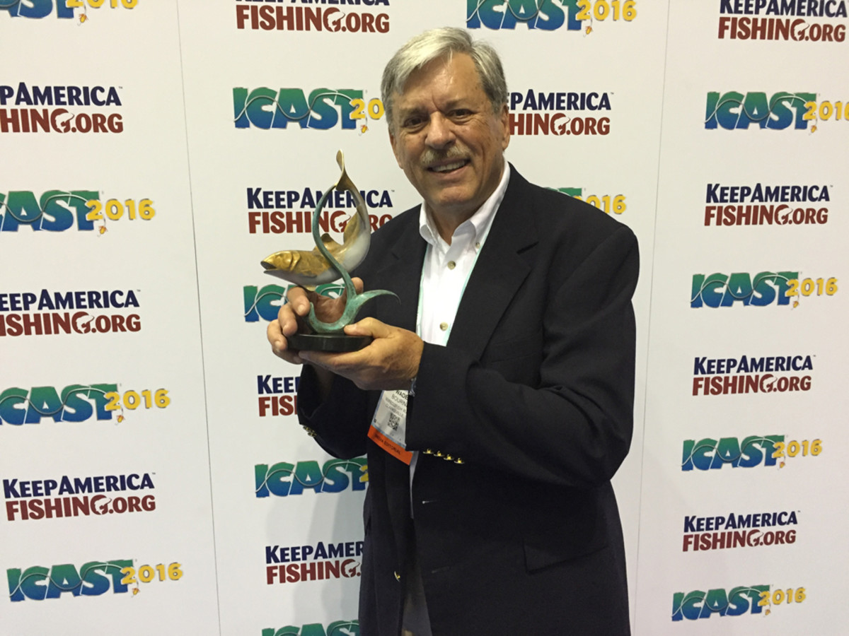 Wade Bourne, a longtime fishing and outdoor writer and broadcaster and founder and host of Wired2Fish/Hunt Radio, received the Homer Circle Fishing Communicator Award.