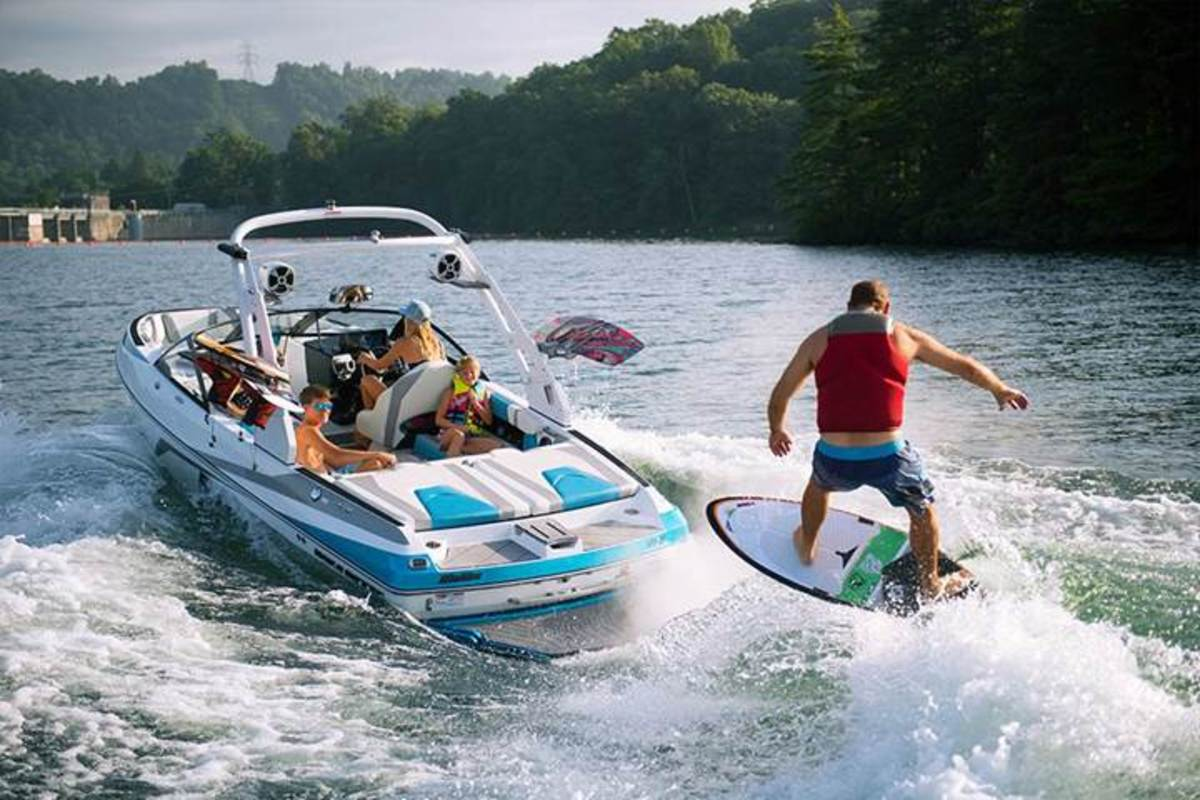 The 2017 Malibu Wakesetter 21 VLX has a standard Monsoon 6.2-liter engine that the company said offers 410 foot-pounds of torque.