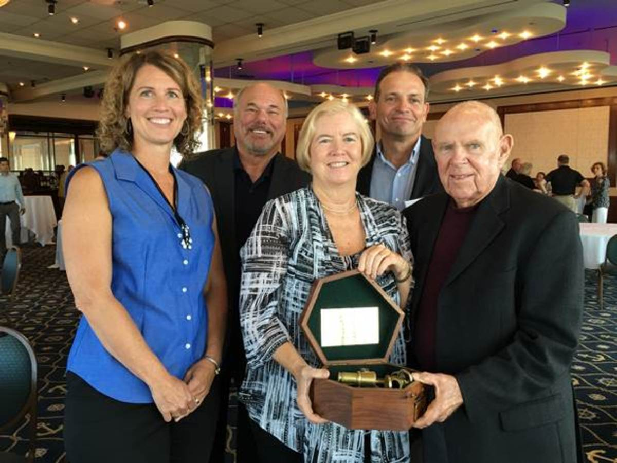 U.S. Rep. Candice Miller, R-Mich., (third from left) received the Ray L. Underwood Lifetime Achievement Award. She is shown with MBIA executive director Nicki Polan (left); Jim Coburn, of Coburn & Associates; Steve Remias, of MacRay Harbor; and Ray Underwood, of Muchmore Harrington Smalley and Associates.