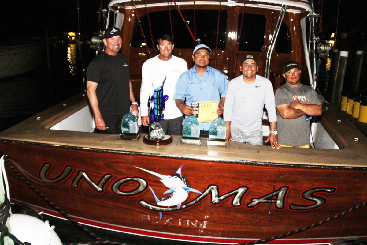 Team Uno Mas won the 2016 Bahamas Billfish Championship.