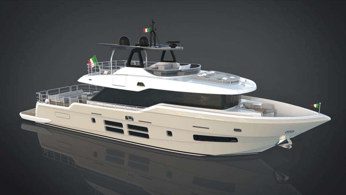 The Oceanic 76 GT will be shown at the Cannes Yachting Festival in September.