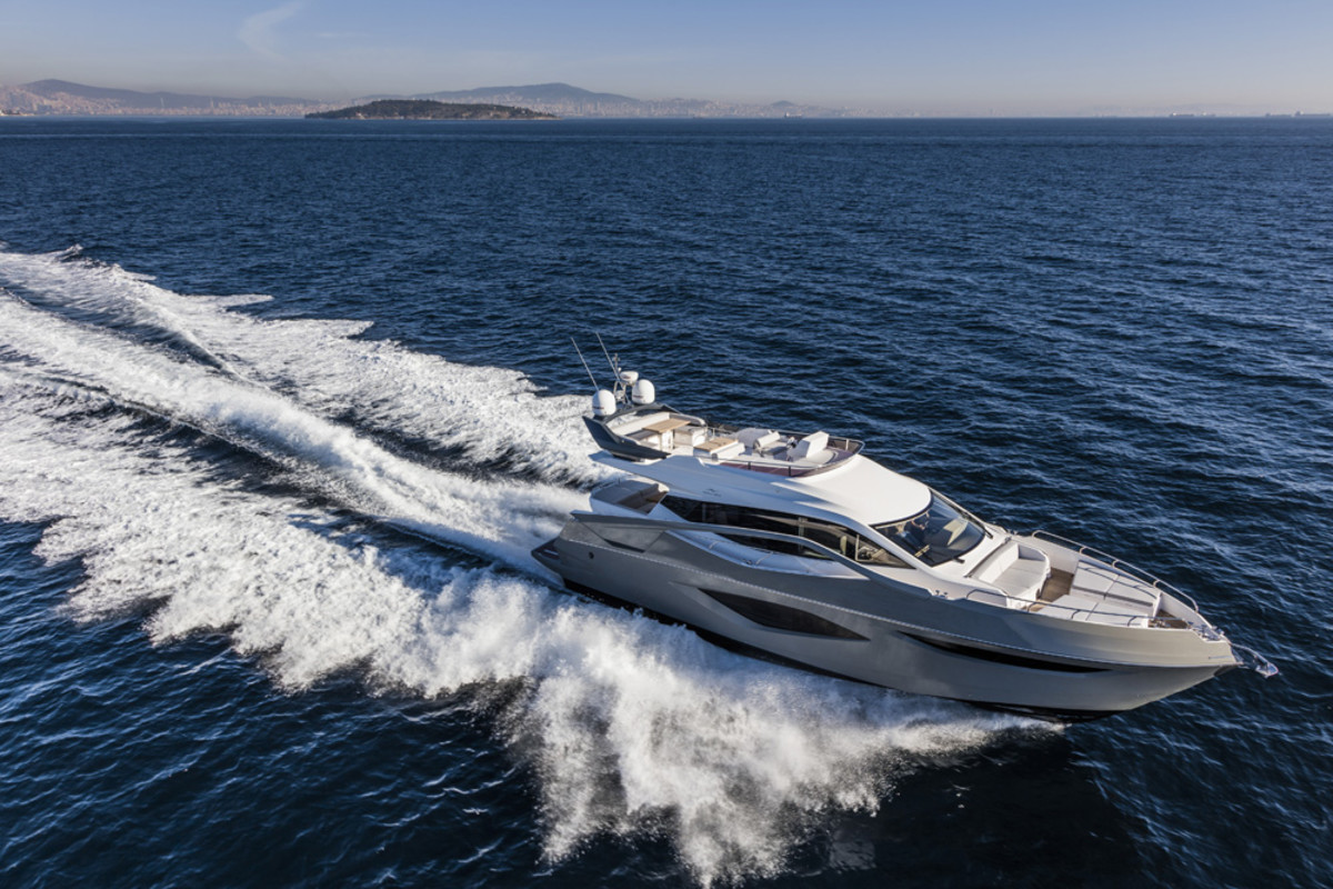 Numarine's new 78HT Evolution will be at the Cannes Yachting Festival in September.