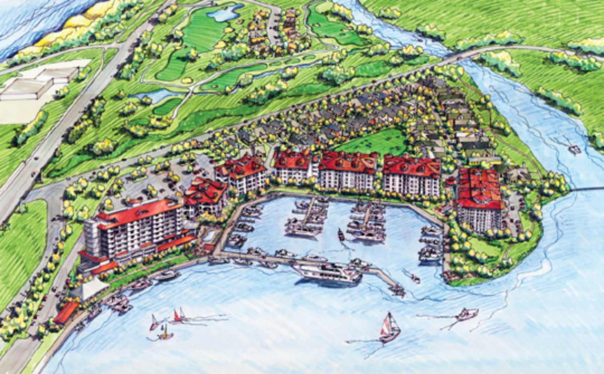 Reclaiming a waterfront: the Harbor Shores development in Michigan.