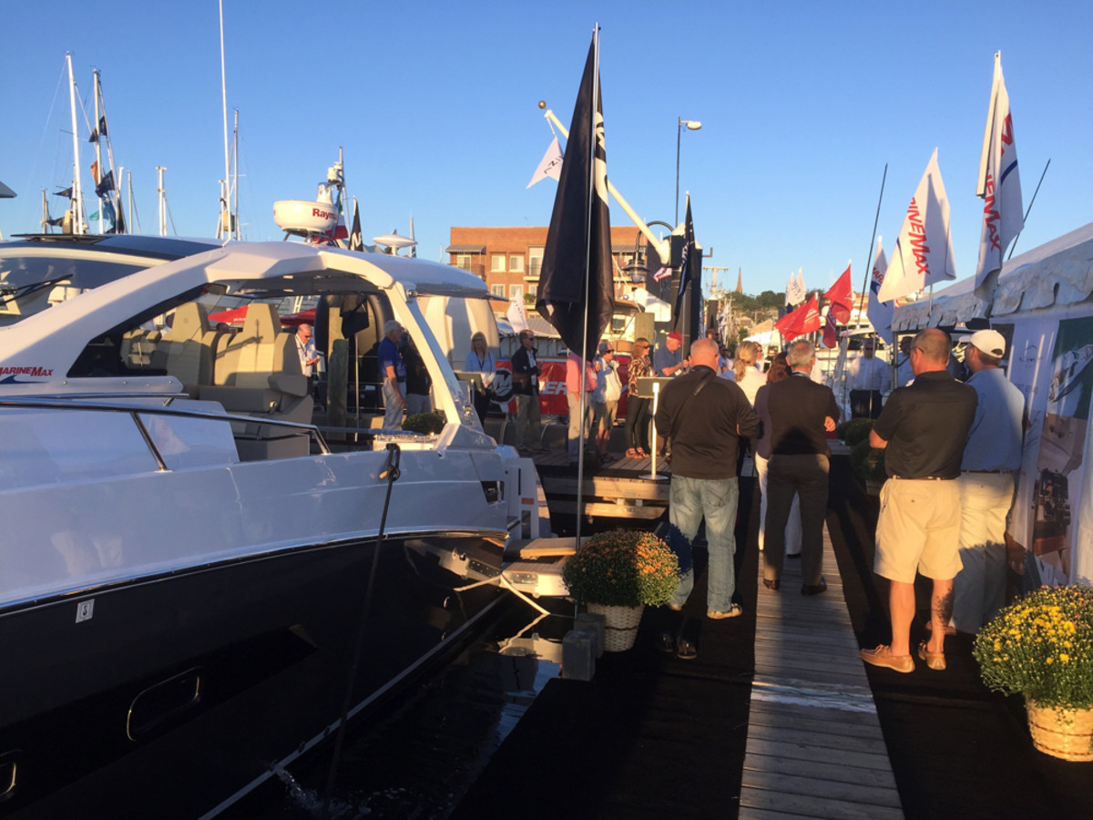 Exhibitors said excellent weather and a larger number of boats brought crowds to the Newport International Boat Show this year.