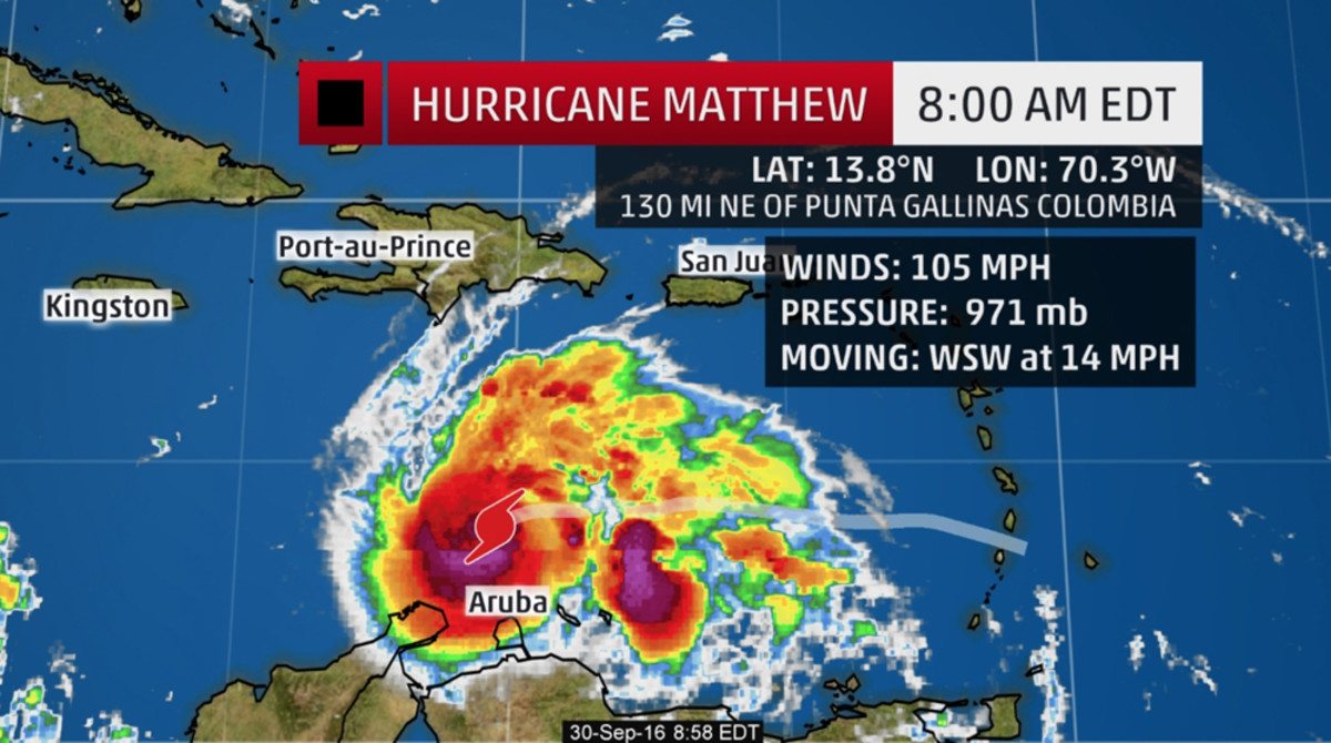 Matthew is the fifth hurricane of the 2016 Atlantic hurricane season. Graphic by The Weather Channel.