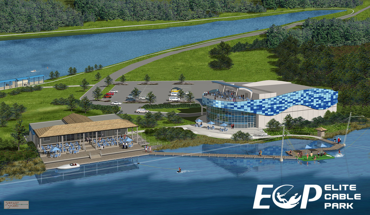 Elite Cable Park, shown in this rendering, is expected to be completed next spring.