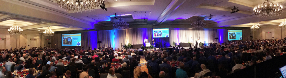 A sold-out crowd of 750 attended the industry breakfast at IBEX today.