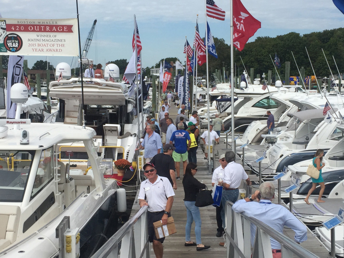 Traffic on the docks at Norwalk was solid as the weekend saw beautiful weather.