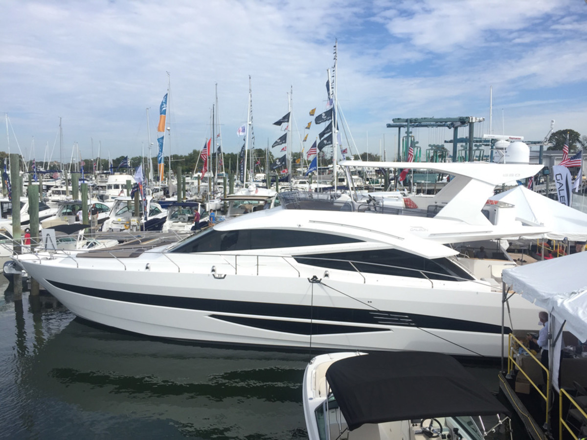 This 66-foot Galeon made a big impression on Norwalk Boat Show attendees — who commented on the fit, finish, appointments of the boat, and the price point of the Polish-built yacht.