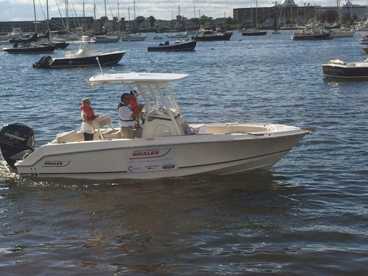 Boston Whaler and Beneteau provided boats for the show's Confident Captain program.