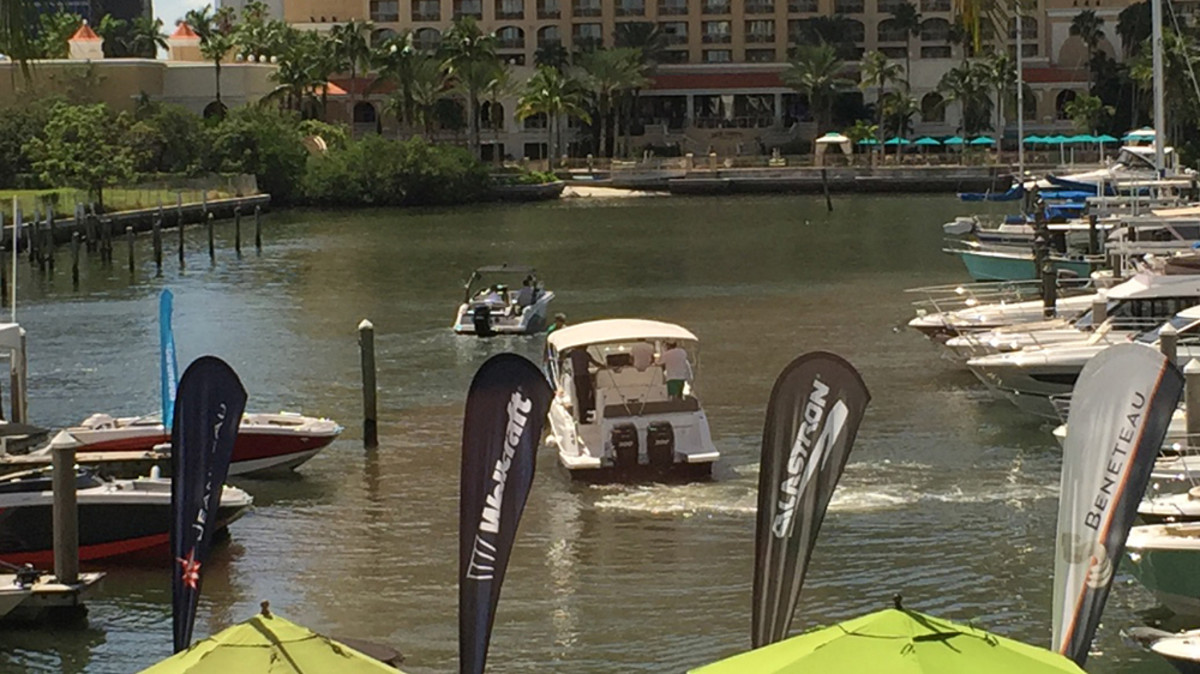Dealers Tuesday spent another day at the Hyatt Regency Hotel in Sarasota, Fla., testing Groupe Beneteau boats. About 30 boats — vessels from six of the group's 10 brands — were in the water. Groupe Beneteau's dealer meeting wraps up today.