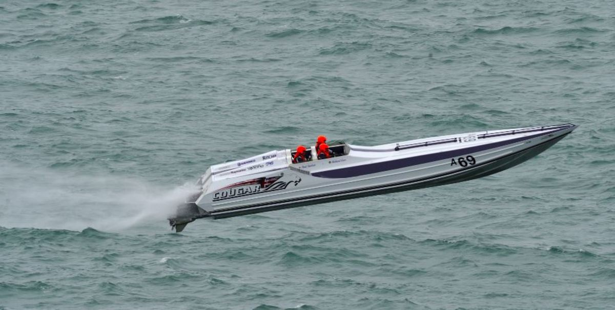 Steve Curtis won the Cowes-Torquay-Cowes powerboat race.