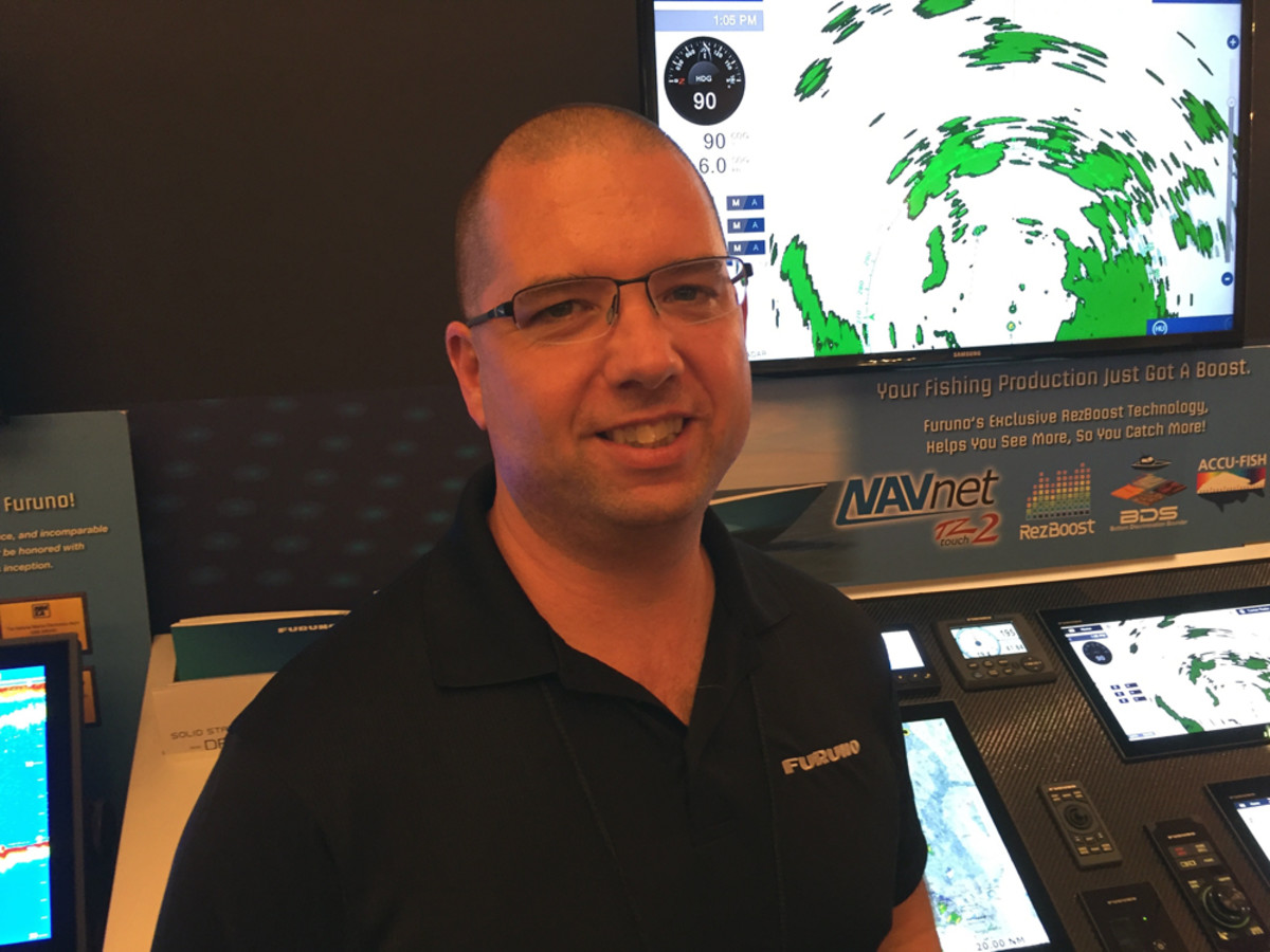 Matthew Wood, Furuno national sales manager, has noticed an increase in the educational offerings at the show. He attended three seminars on Wednesday, including digital switching and coastal surveillance.