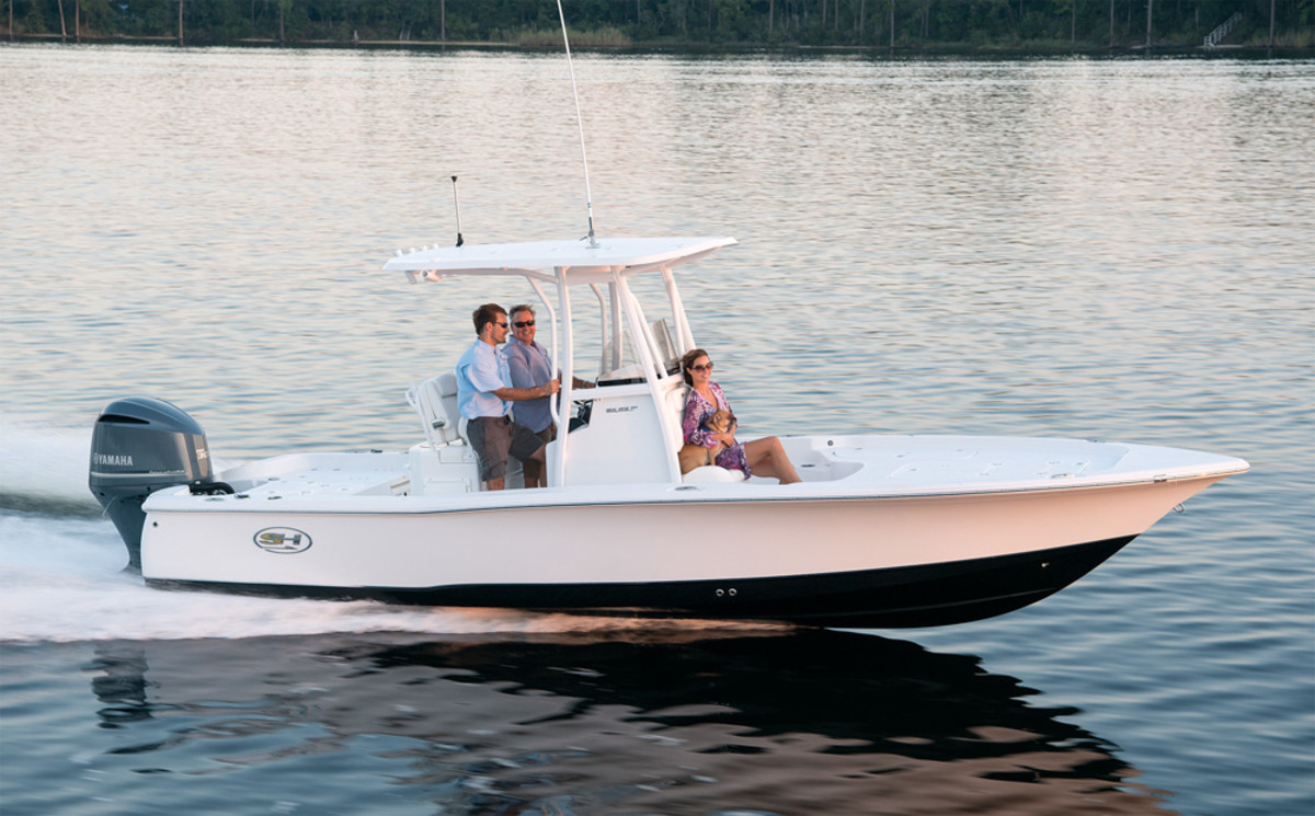 Sea Hunt has steadily grown over the past few years, offering a variety of center consoles, such as this bay boat.